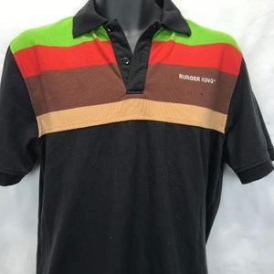 e6f7fd8d8ac64 Burger King · Burger King Polo Men's Uniform Shirt Vintage